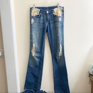 Armani exchange bleached distressed jeans size 2